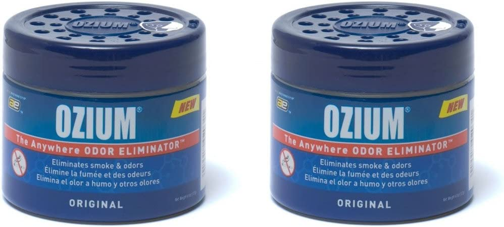Ozium Smoke & Odors Eliminator Gel. Home, Office and Car Air Freshener 4.5oz (127g), Original Scent (Pack of 2)