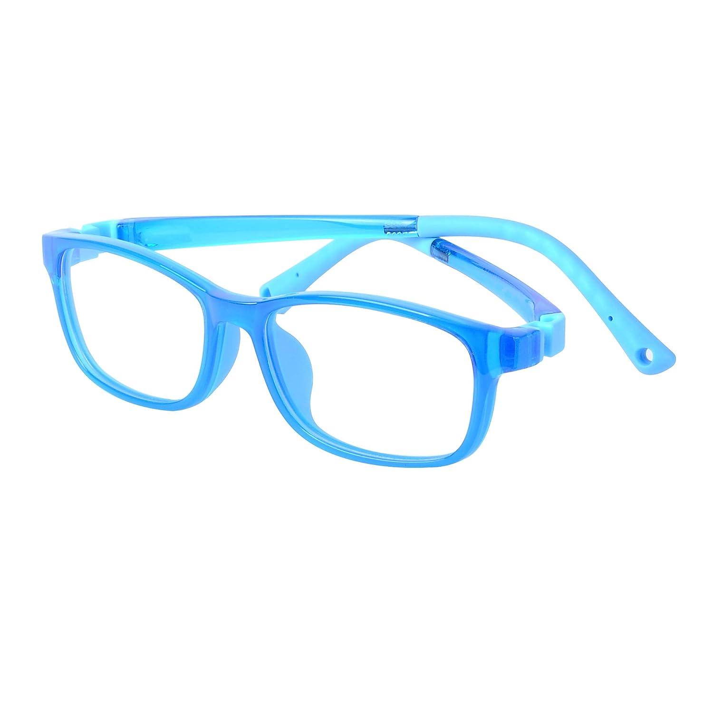 Case Anti Slip Design Adjustable Strap Kids Computer Glasses Anti Blue Light Boys Girls Cleaning Cloth