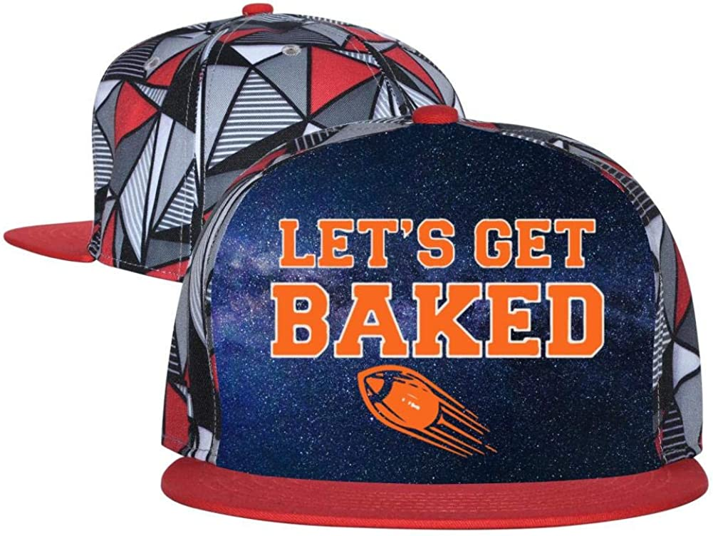MYHAT Unisex Summer Adjustable Baseball Flat Cap Lets Get Baked Football Trucker Hat Sports Hip Hop Cool Hat