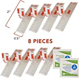 E-Z Pass/I-Pass/SunPass Adhesive Mounting Strips 8-Strips, (4 Sets) 2 Inch Reclosable Fastener Strips with 2 Alcohol Prep Pads