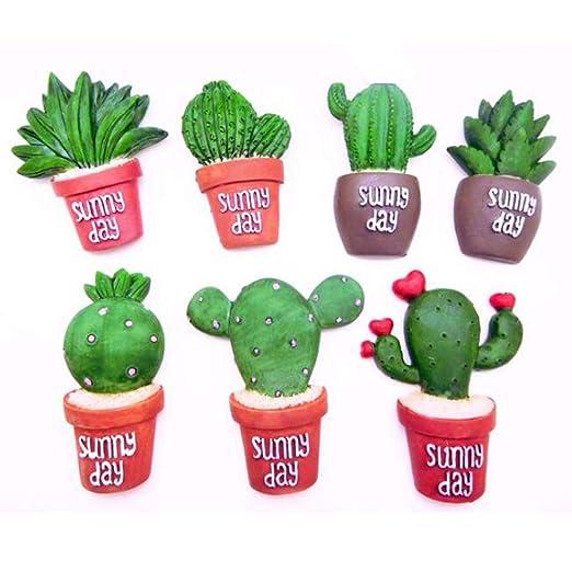 YZBear 7 piezas Cactus Imanes para refrigerador, decoración del ...