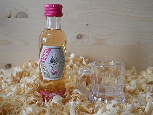 Botellin miniatura Ginebra Giro Pink con vasito chupito - Pack de ...