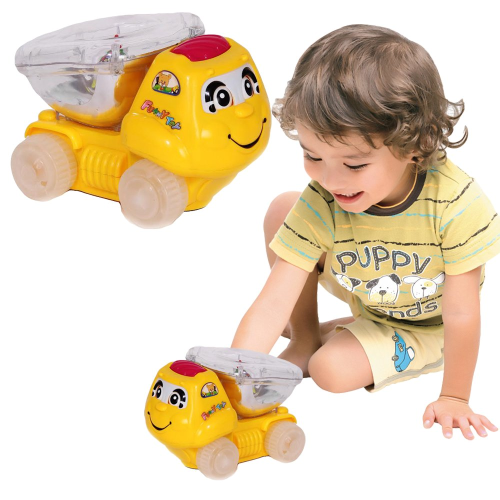 Toy Cubby Light up Bump and Go Truck with Flashing Lights and Sound