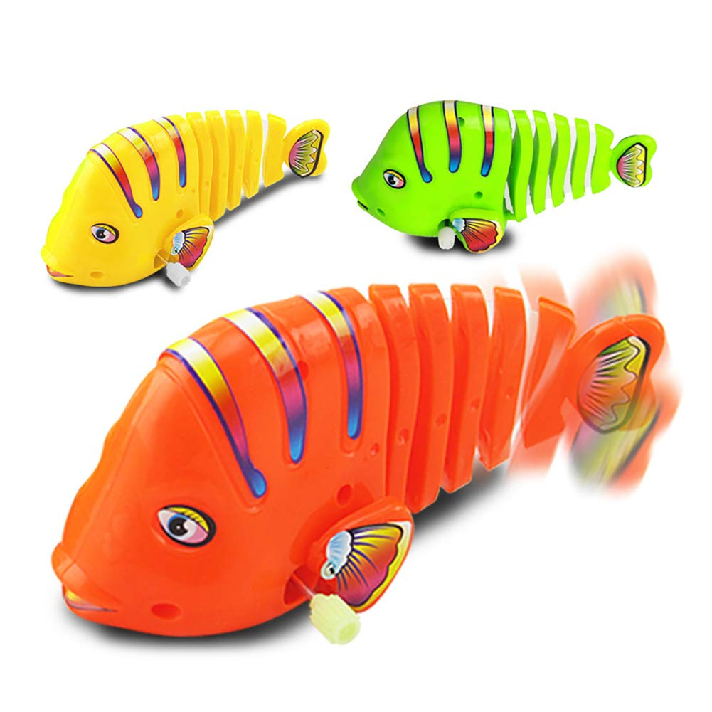 BrawljRORty Toys, Cute Cartoon Fish Funny Wind Up Clockwork Educational Kids Baby Spring Toy