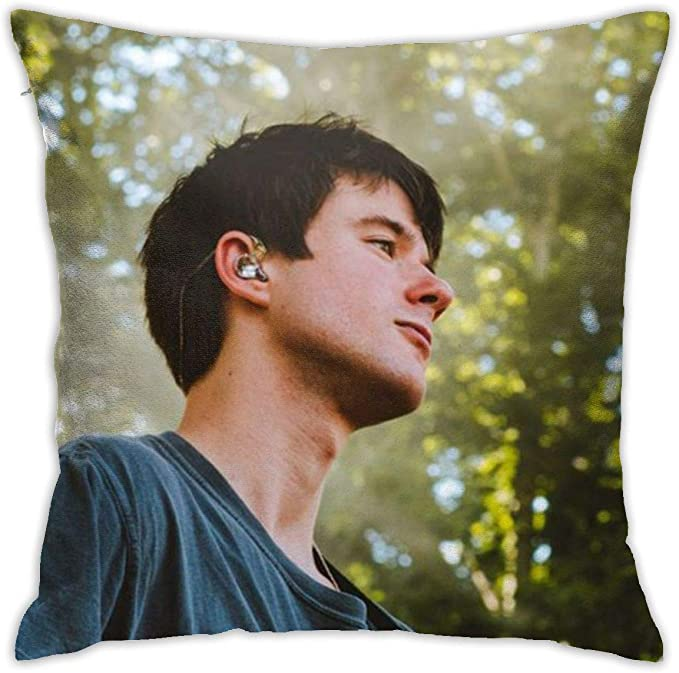 Amazon Com Alec Benjamin Polyester Plush Comfy Animated Square Pillow Case 18x18 Kitchen Dining