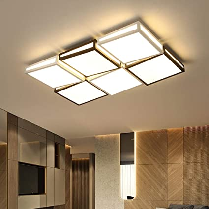 Amazon.com: Dimming Remote Control Ceiling Light Modern 6 ...