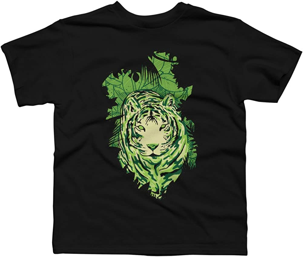 Design By Humans TIGERCAMOU Boys Youth Graphic T Shirt