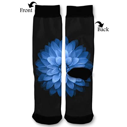 Amazoncom Leisue Blue Lotus Flower High Ankle Sock Soft Cotton