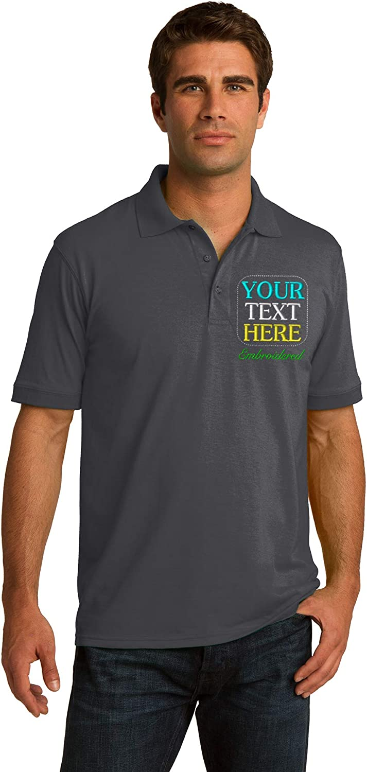 Custom Embroidered Polo Shirts. Jerzees - SpotShield and Port & Company Core Blend Pique Polo