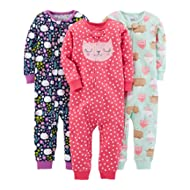 [Sponsored]Girls' 3-Pack Snug Fit Footless Cotton Pajamas