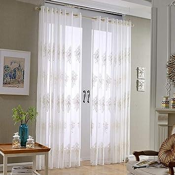 Amazon.de: HAOLY Einfache weiße vorhänge, Weiße gardinen ...