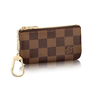 d7b08dafc106 Louis Vuitton Damier Canvas Key Pouch Key Ring N62658 Made in France ...