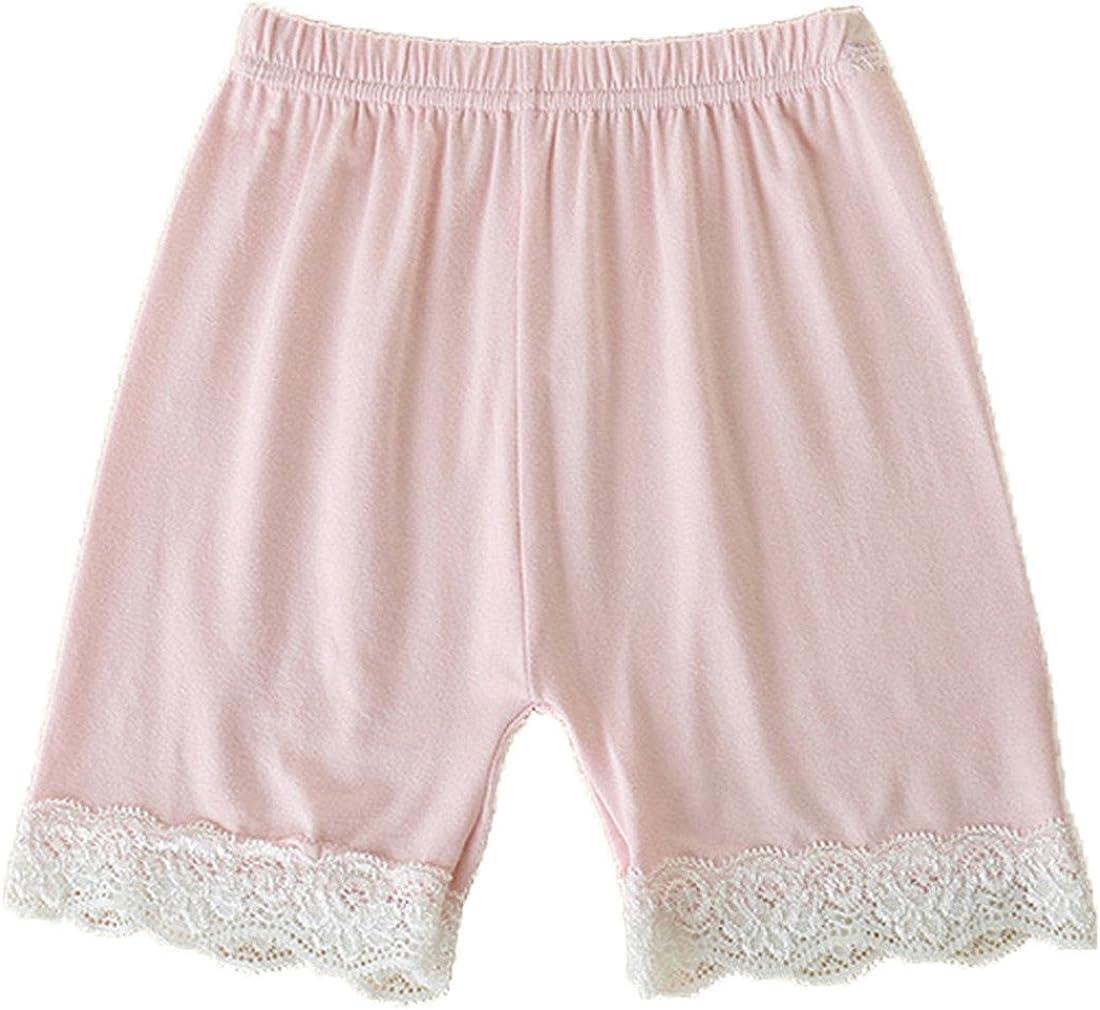 FAIRYRAIN Little Girls Kids 3 Pcs Lace Soild Slim Elastic Gymnastics Safety Short Panties Dancewear Underwear