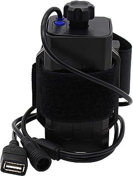 WINGONEER Multifunción Caja de batería 18650 impermeable funda para caja de luz para bicicletas bicicleta lámpara Power Bank para teléfonos con DC USB Dual Puertos: Amazon.es: Electrónica
