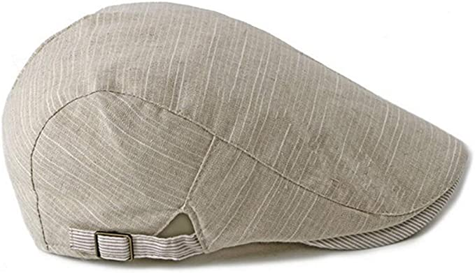 UTOWO Thin Cotton Newsboy Cap Mens Ivy-Flat-Cap Driving Scally Hat