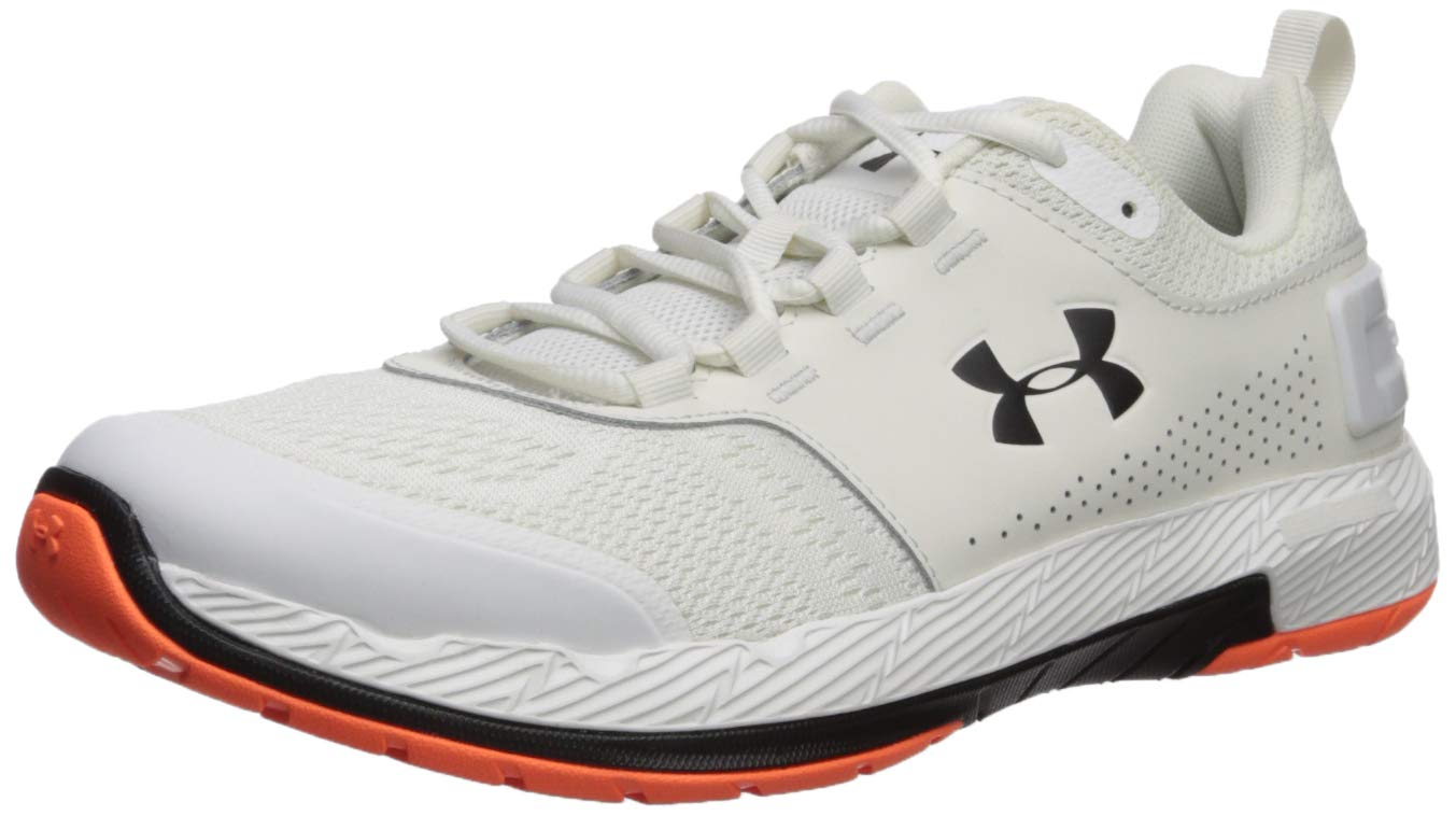 Under Armour Men's Commit TR EX Sneaker, Onyx White (108)/Black, 7 M US by Under Armour (Image #1)