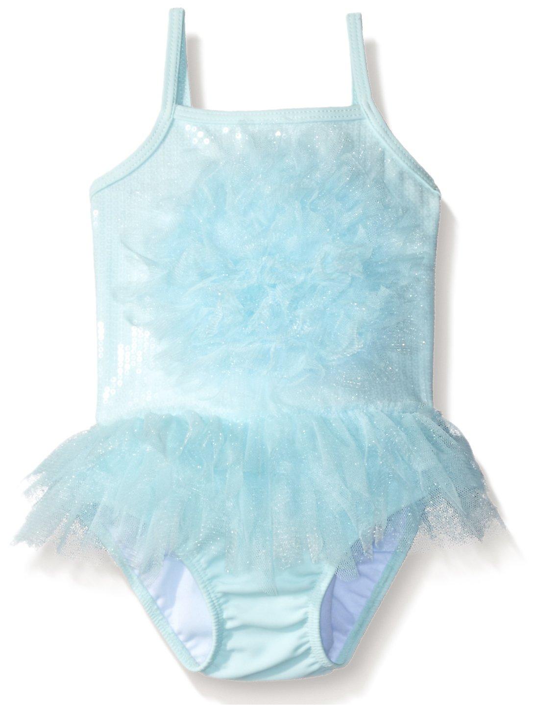 Kate Mack Girls' Candy Cloud Skirted One Piece Baby Swim Tank, Aqua, 24 by Kate Mack