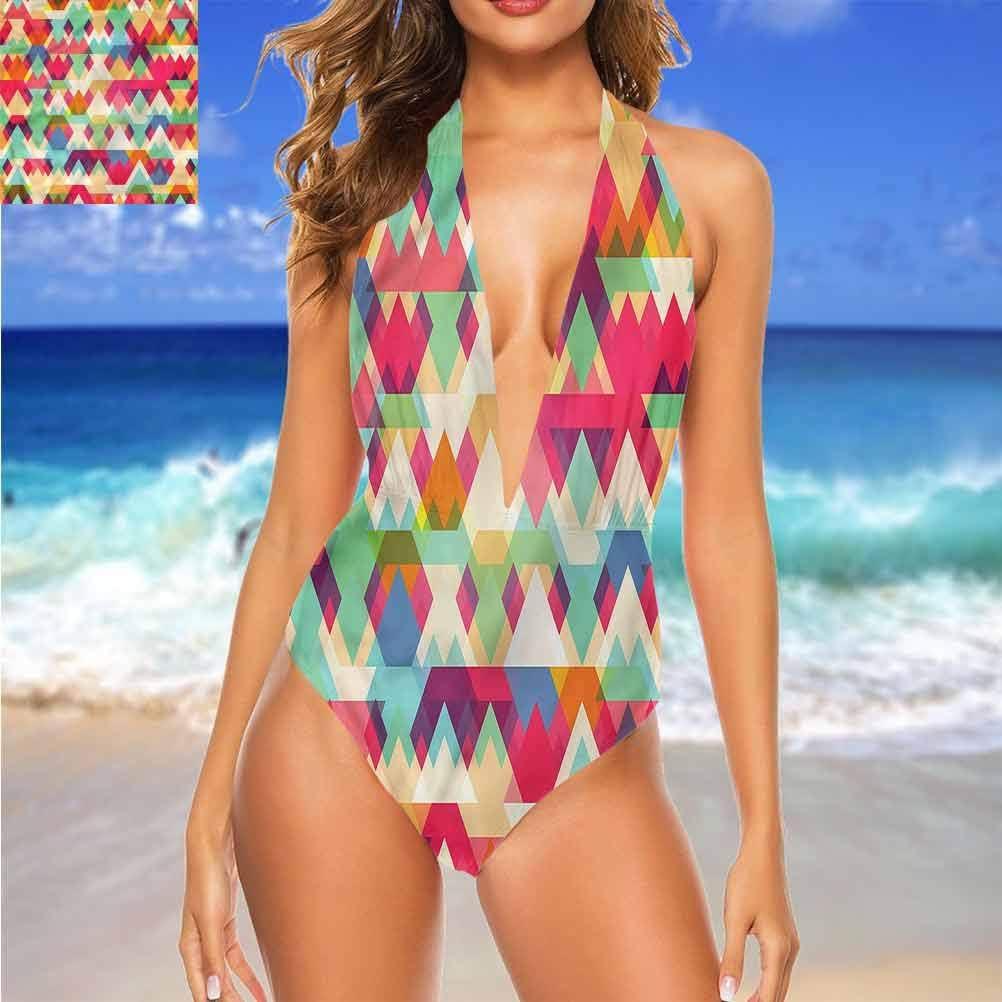 Bikini Indie, portrait de cerf artistique parfait pour une journée ensoleillée à la plage Multicolore 06