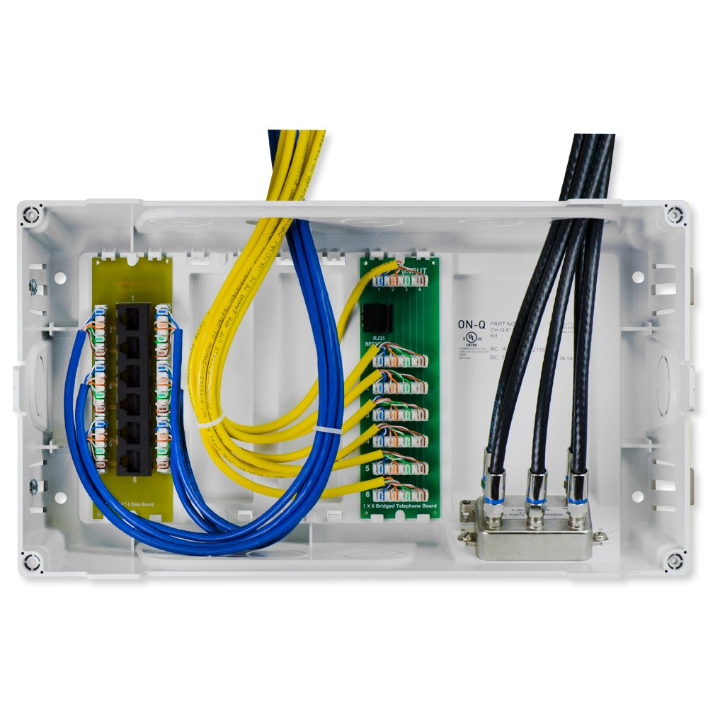 On Q Legrand En0804 8 Inch Mdu Enclosure Kit With Cat6 Data Structured Wiring Enclosures