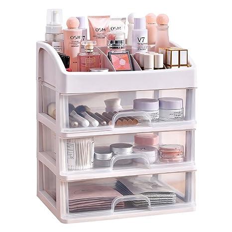 Wuyue Hua - Caja de Almacenamiento para Maquillaje (tamaño pequeño, Organizador de cosméticos,