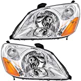 Driver and Passenger Headlights Headlamps Replacement for Honda 33151-S9V-A01 33101-S9V-A01