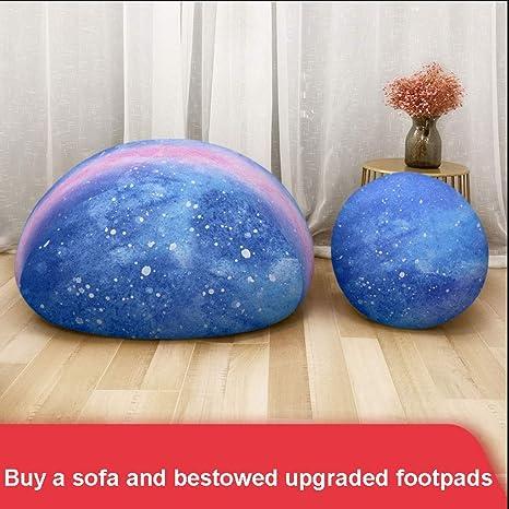 Amazon.com: Puf para sofá XVTYXSXIO Lazy, de tela de seda ...
