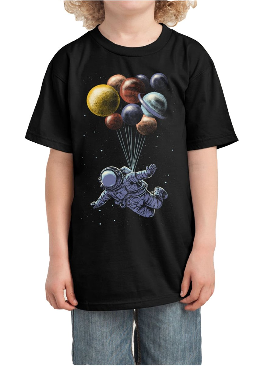 BEIIIOU Kid's Space Travel Funny Design Tshirt Small