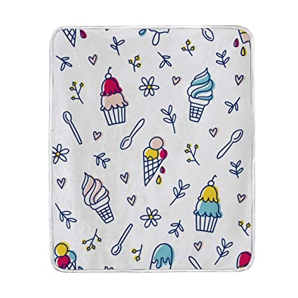 Amazon.com  Cute Ice Cream Throw Blanket for Couch Bed Living Room ... e127547205