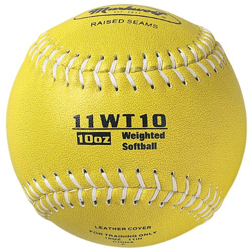 Leather Synthetic 11' Softball (Markwort Color Coded Weighted 11-Inch Softball (10-Ounce, Olive))