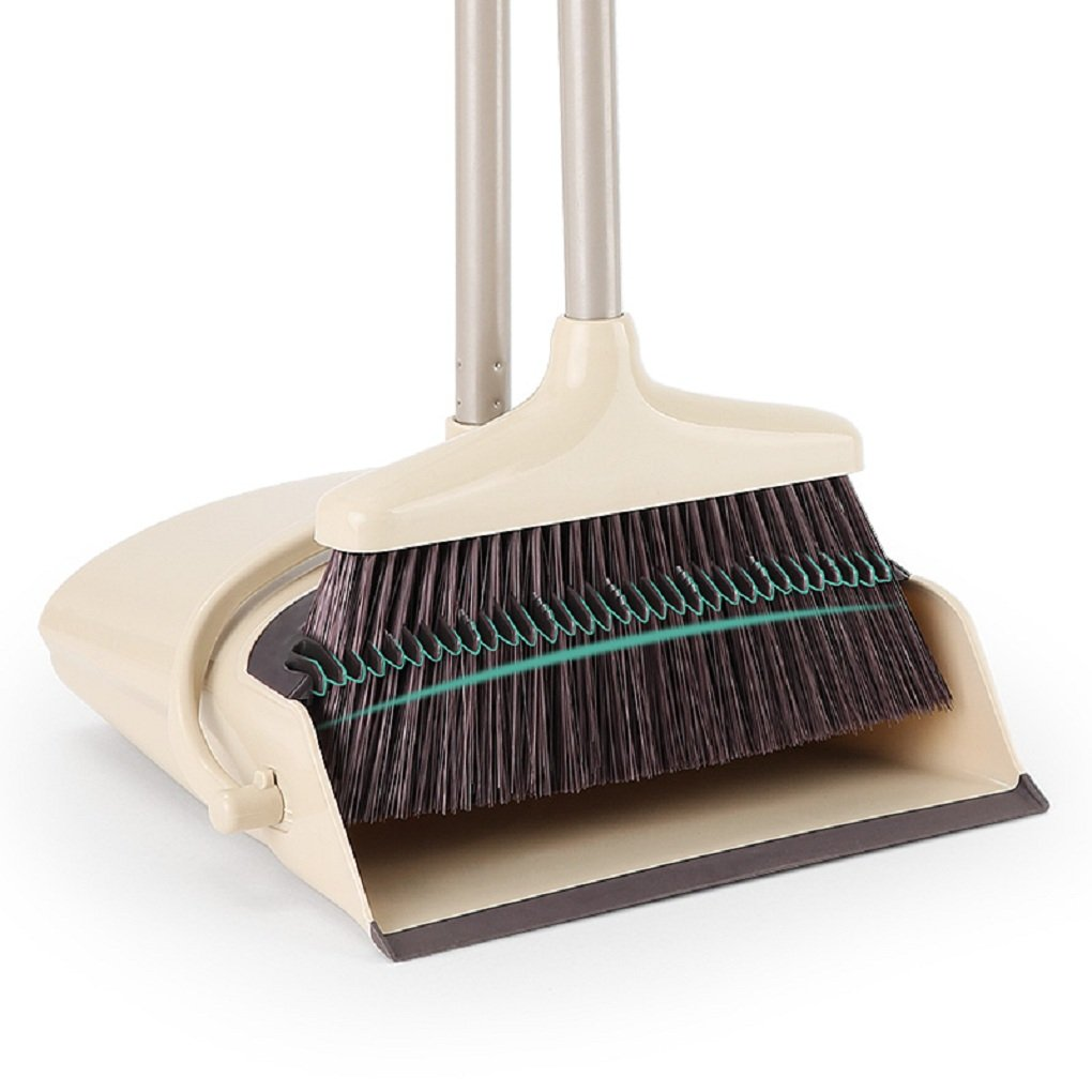Combo Broom Sweeper and Foldable Dustpan Office, Lobby and Home Sweep Use