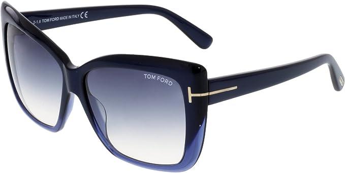 9ca33acd685 Tom Ford Womens Irina Oversized Gradiant Square Sunglasses Blue O S ...
