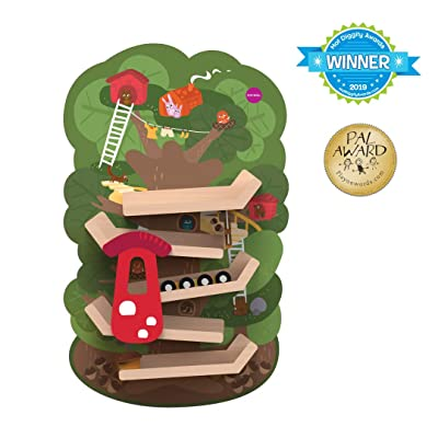 ORIBEL VertiPlay (Wall Toy) Tree Top Adventure, Wooden Toy and Nursery Room Decor | Easy to Install, Just Stick & Play : Toys & Games
