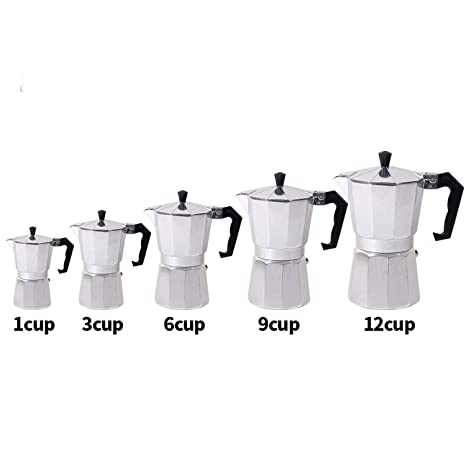 Amazon.com: 1/3/6/9/12cup Stovetop Moka Coffee Maker Italian ...