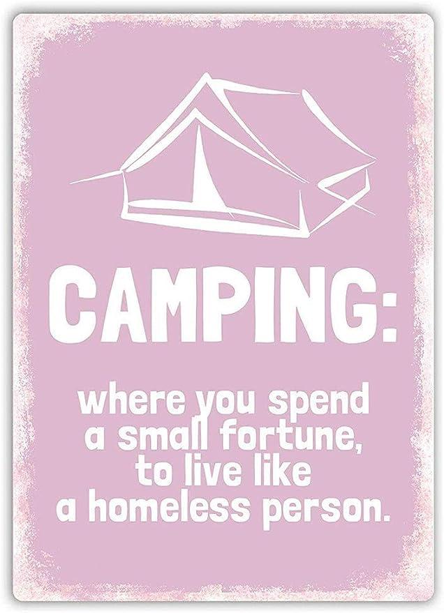 WallAdorn - Cartel de Hierro con Texto en inglés Camping Live ...