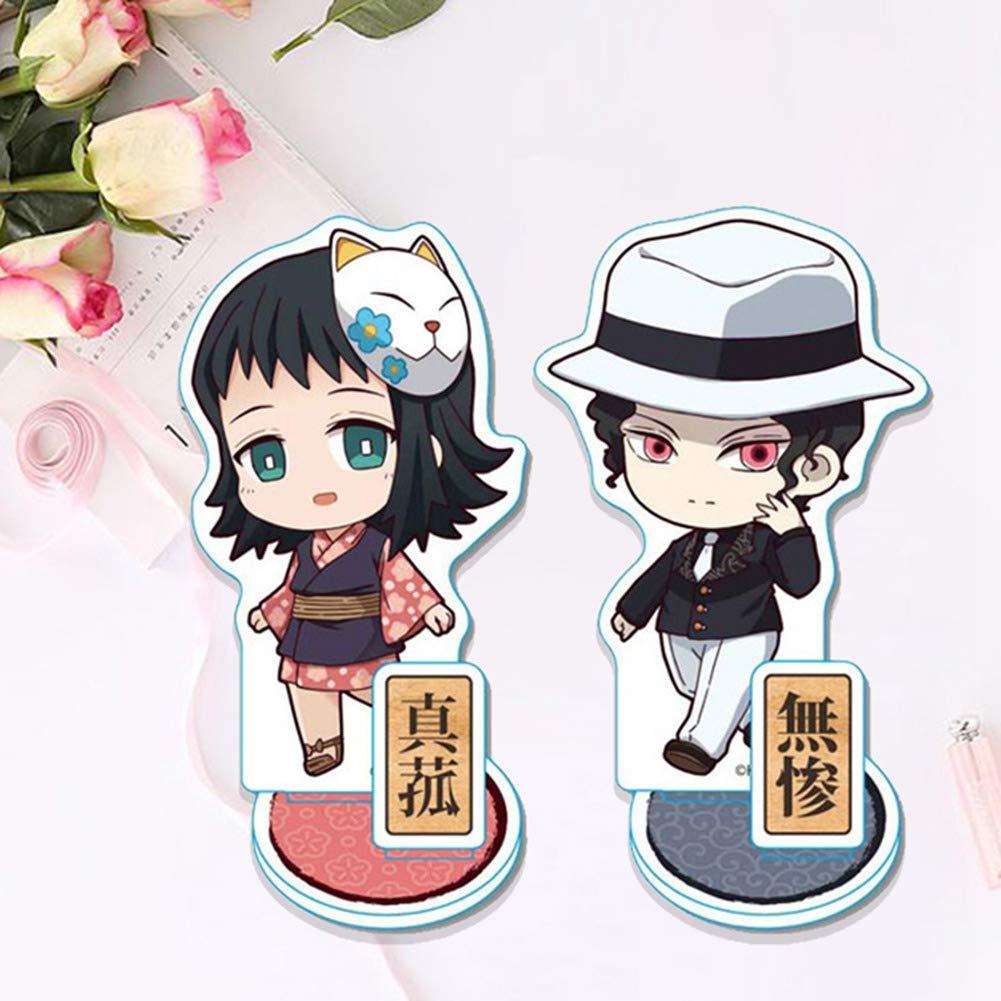 Anime Acryl Stand Figure Collection D/écoration Dint/érieur Cadeau danniversaire Gar/çon Kimetsu no Yaiba Figurine 10cm lunanana Demon Slayer