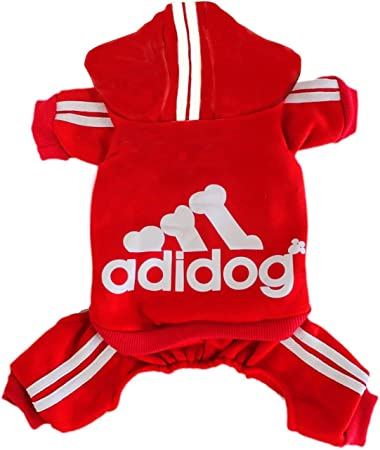 Rdc Pet Adidog Dog Hoodies Pink,5XL Clothes,Fleece Jumpsuit Warm Sweater,4 Legs Cotton Jacket Sweat shirt Coat for Small Dog Medium Dog Large Dog