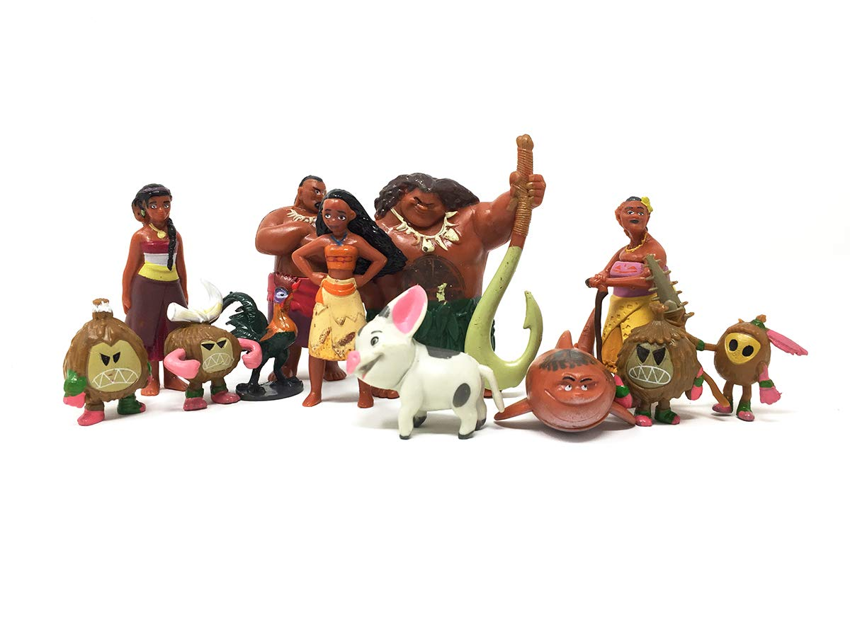 Altay Moana Movie Action Figure Set and Perfect Cake Toppers