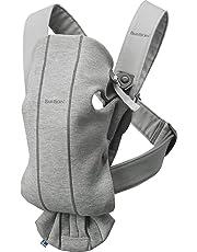 BABYBJÖRN Baby Carrier Mini, 3D Jersey, Light Grey