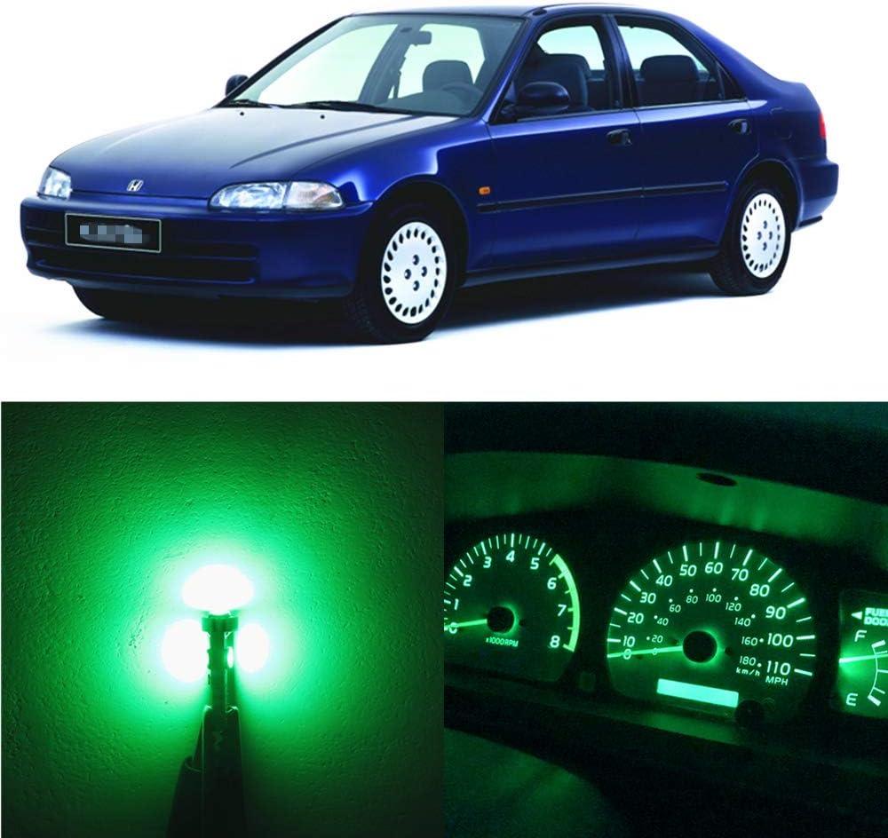 WLJH 23 Pi/èces Blanc Ampoules Tableau De Bord Trousse De Feux /à Jauge /à Leds Compteur De Vitesse DInstrument Pour 1992-2000 Civic Eg Ex Ek Ej Srs Dx Lx Si Hx Del Sol