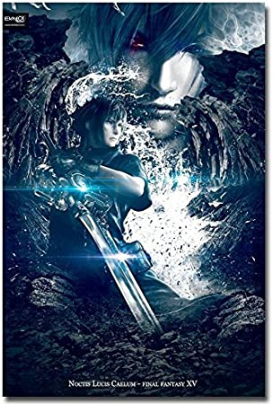 Final Fantasy XV Poster Noctis and Luna Key Art High Quality Prints
