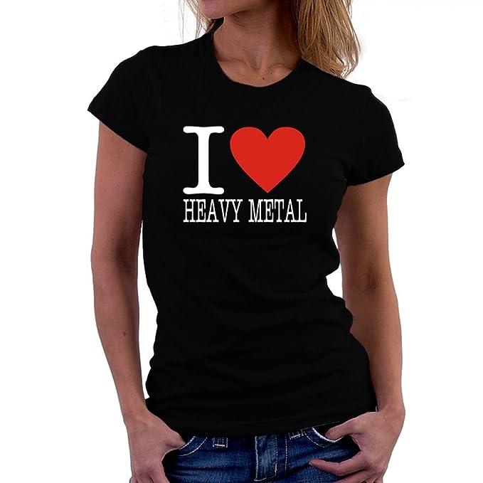Teeburon I LOVE Heavy Metal Camiseta Mujer