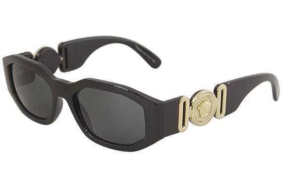 410ac4c4e63b Amazon.com: Versace Unisex VE4361 Black/Grey One Size: Versace: Clothing