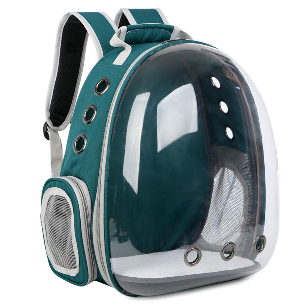 Green Zero Pet Backpack Cat Panoramic Transparent Space Pet Cabin Bag Outdoor Portable Cat Cage Backpack Cat With Double Shoulder Bag