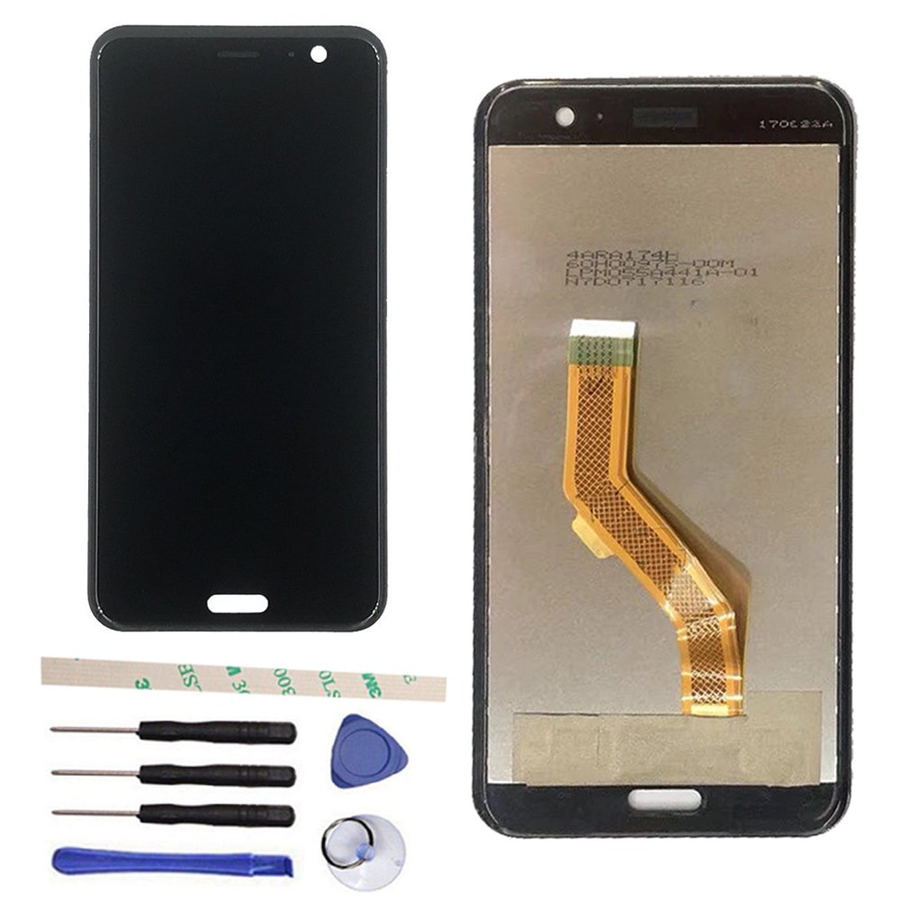 Black Original 3D LCD Display Touch Screen Digitizer Assembly For HTC U11 U 11