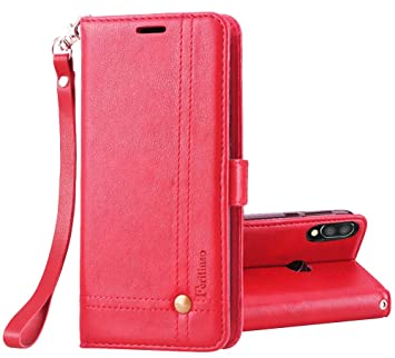 Ferilinso Funda para Xiaomi Mi Play, Carcasa Cuero Retro Elegante con ID Tarjeta de Crédito Tragamonedas Soporte de Flip Cover Estuche de Cierre ...