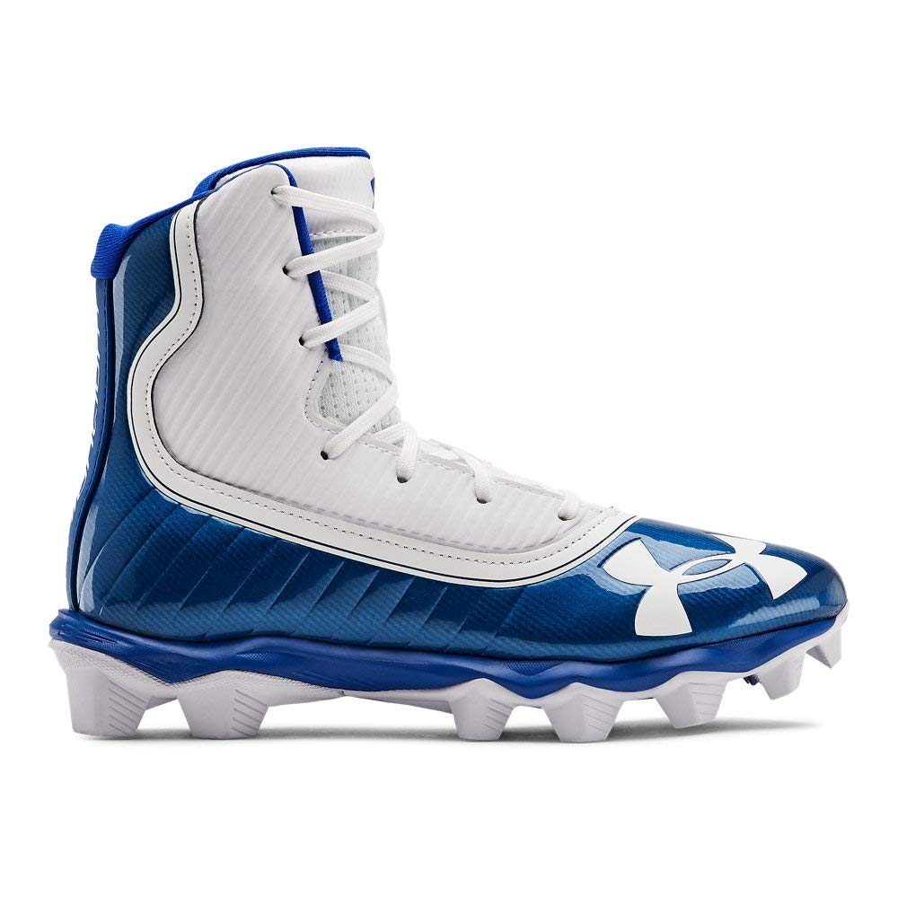 Under Armour Boys' Highlight RM Jr. Football Shoe, Team Royal (401)/White, 1 M US Little Kid