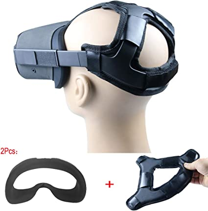 Head Strap Pad /& Headband Gravity Pressure Reducing Head Pad Cushion for Oculus Quest Face Mask Accessories with Comfortable PU Leather Surface /& Soft Silicone Cover Black Cover+Pad