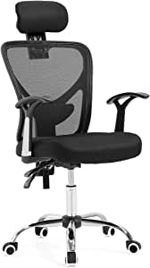 Adjustable Breathable Ergo Mesh Office Computer Chair with Lumbar Support Black