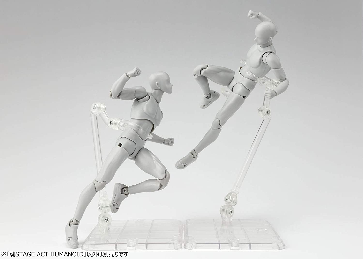 Figuarts Bandai Tamashii Stage Act 4 for Humanoid Clear Stand Set of 2 S.H
