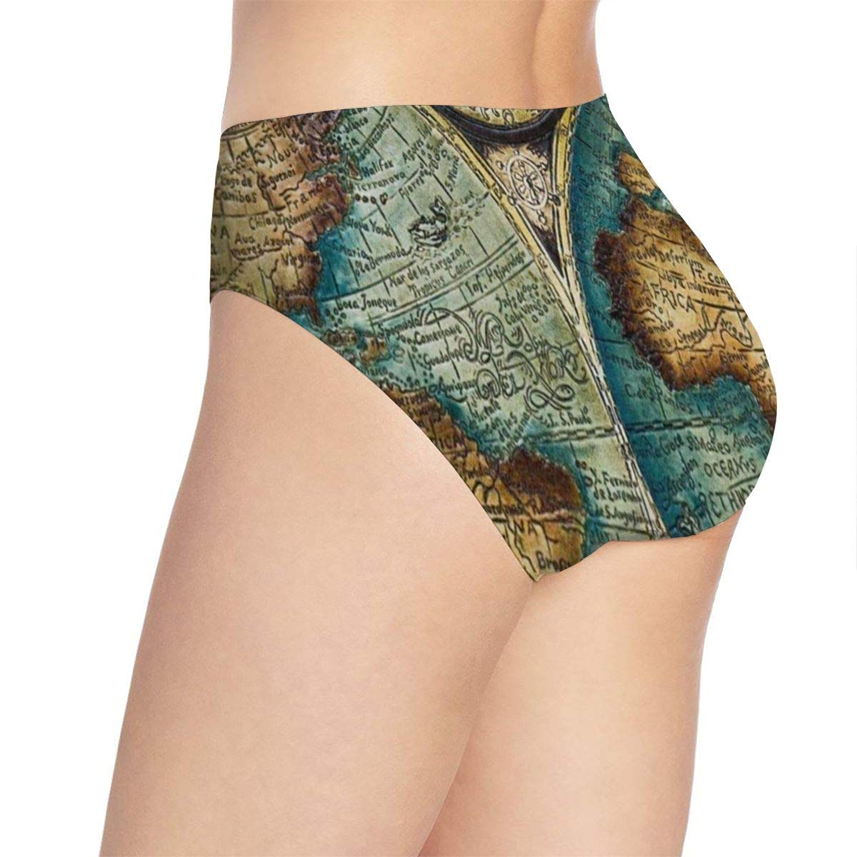 Womens Underwear Old World Map Art Seamless Panties Personalized Briefs for Lady//Girls